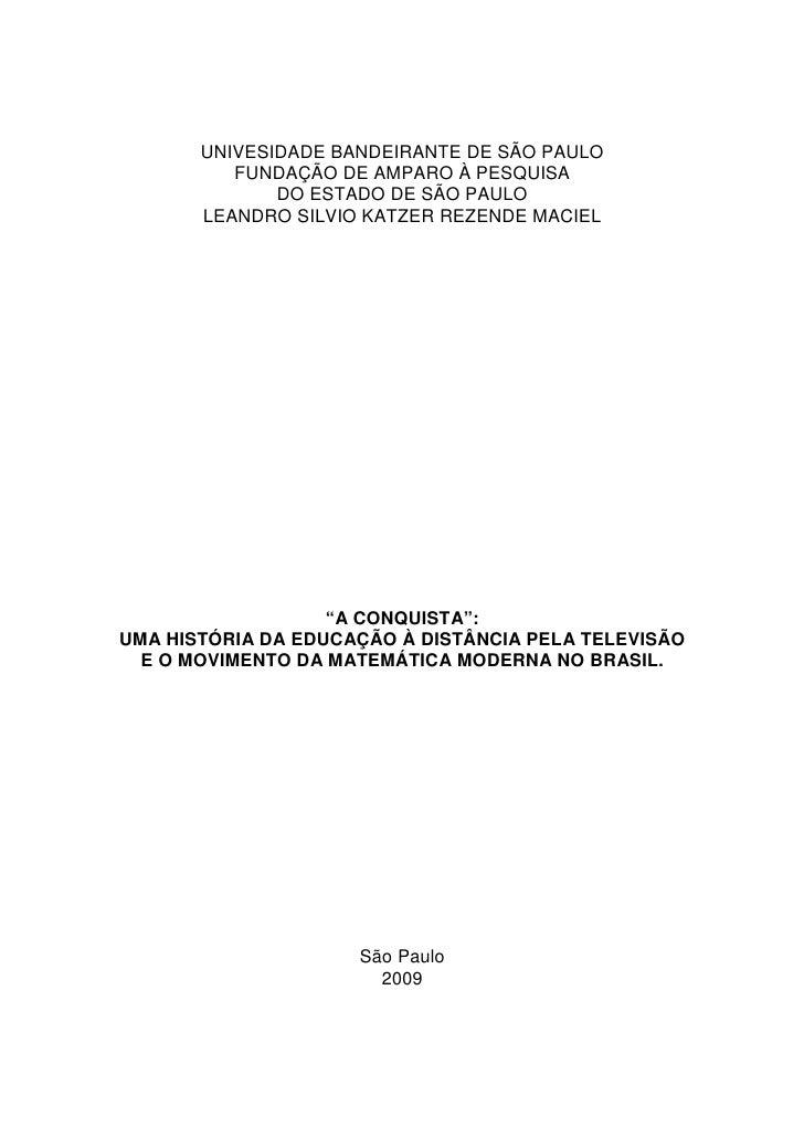 UNIVESIDADE BANDEIRANTE DE SÃO PAULO          FUNDAÇÃO DE AMPARO À PESQUISA              DO ESTADO DE SÃO PAULO       LEAN...