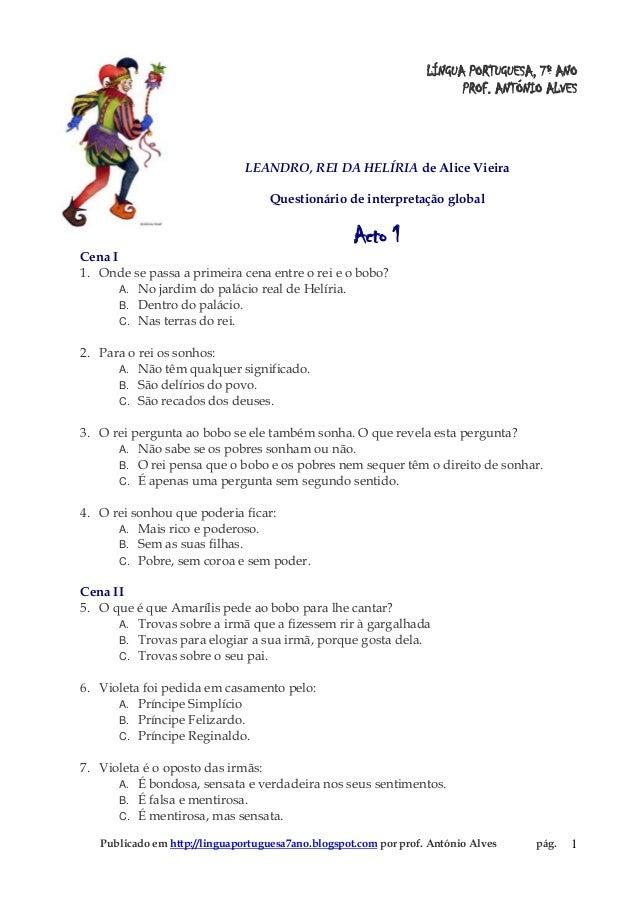 Publicado em http://linguaportuguesa7ano.blogspot.com por prof. António Alves pág. 1LÍNGUA PORTUGUESA, 7º ANOPROF. ANTÓNIO...
