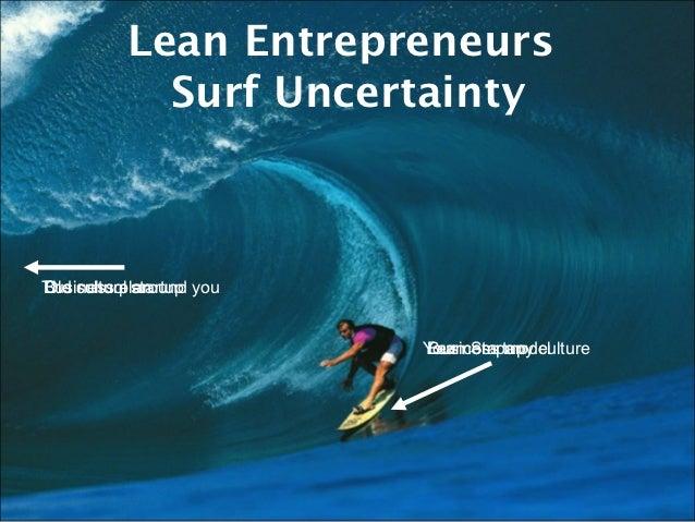 Lean Entrepreneurs             Surf UncertaintyThe culture startup youBusiness planOld school around                      ...