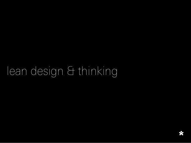 lean design & thinking