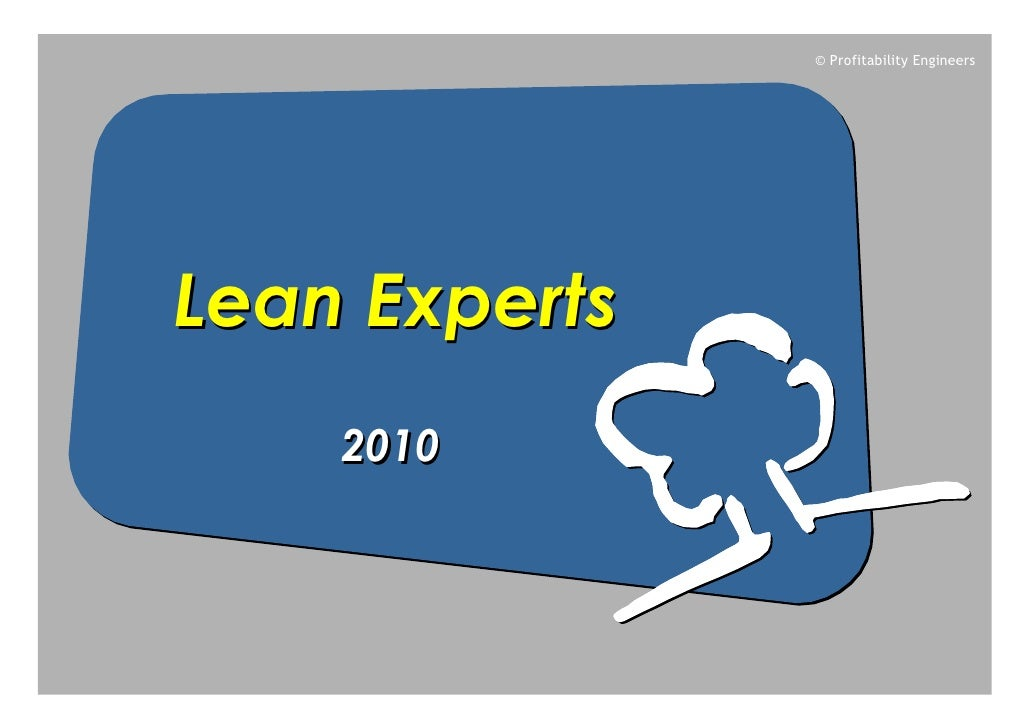 © Profitability Engineers     Lean Experts     2010