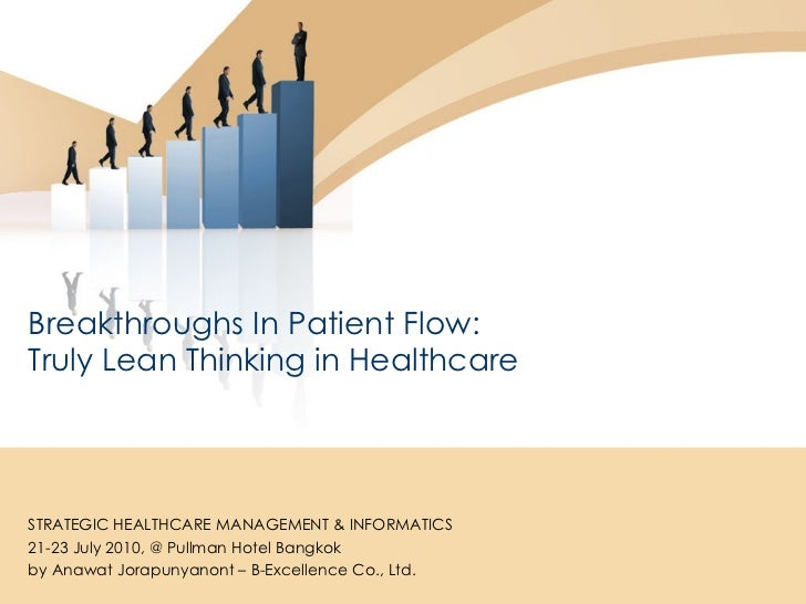 Breakthroughs In Patient Flow:  Truly Lean Thinking in Healthcare STRATEGIC HEALTHCARE MANAGEMENT & INFORMATICS 21-23 July...