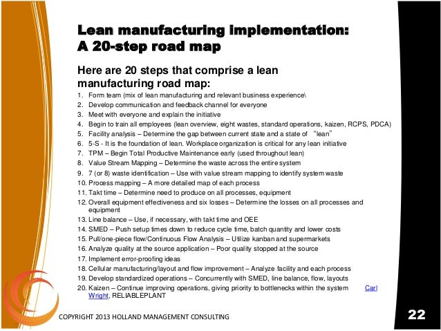 mifc mapping for lean manufacturing implementation Lean manufacturing in action: 3 lean implementation case and value-stream mapping, both the the best cases of a successful lean implementation in.