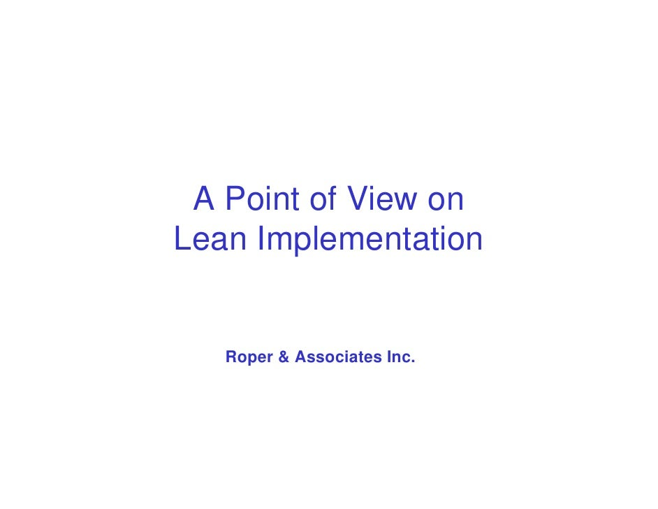 Lean Implementation Overview