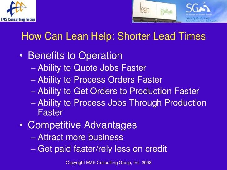 lean in a lean economy