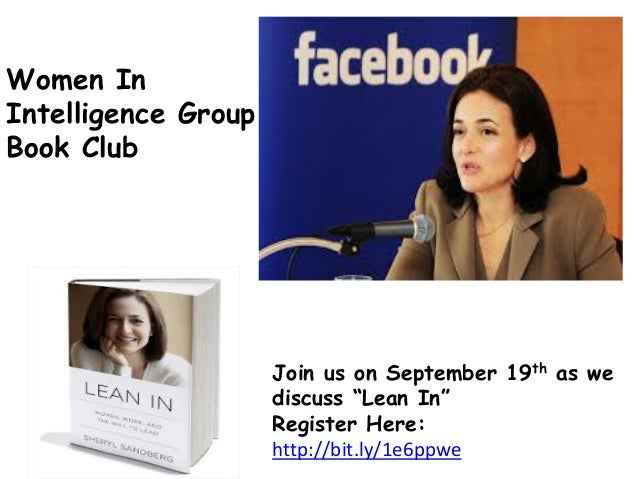 """Join us on September 19th as we discuss """"Lean In"""" Register Here: http://bit.ly/1e6ppwe Women In Intelligence Group Book Cl..."""