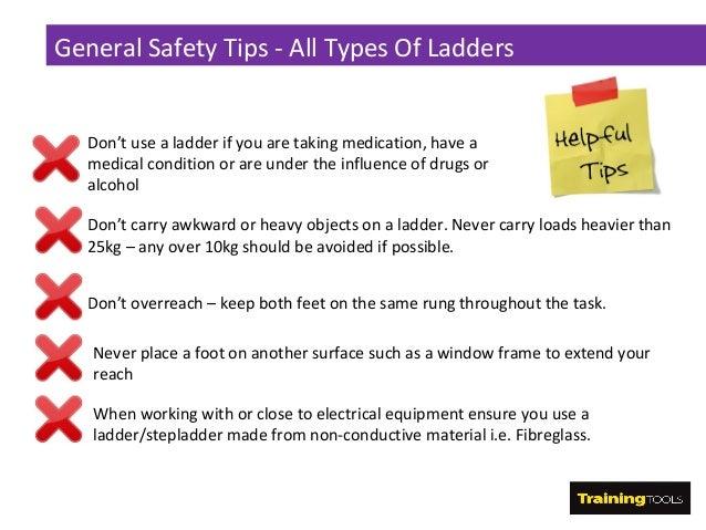 Leaning ladder stepladder safety for A frame ladder safety tips