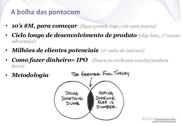 Concrete Solutions 2012 Todos os direitos reservados A bolha das pontocom • 10's $M, para começar (fique grande logo, crie...