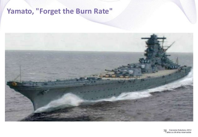 "Concrete Solutions 2012 Todos os direitos reservados Yamato, ""Forget the Burn Rate"" 38"