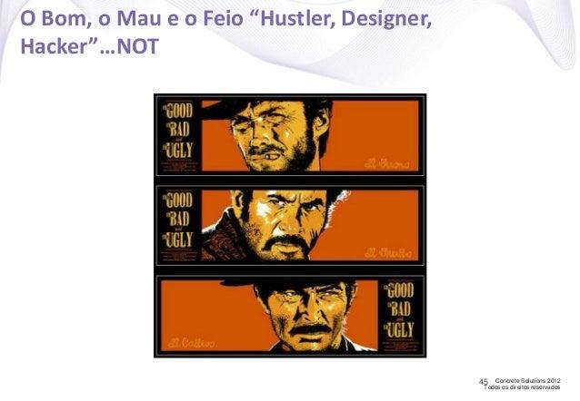 """Concrete Solutions 2012 Todos os direitos reservados O Bom, o Mau e o Feio """"Hustler, Designer, Hacker""""…NOT 45"""