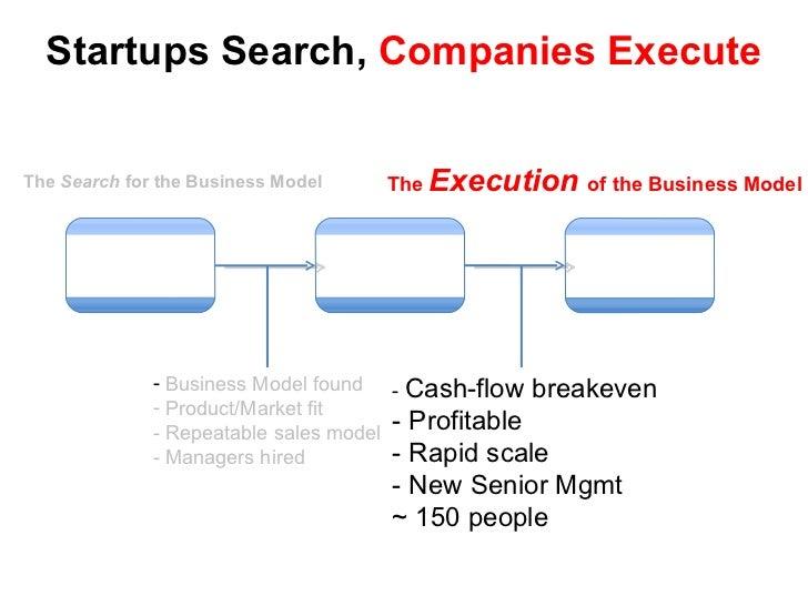 Startups Search,  Companies Execute Scalable Startup Large Company Transition <ul><li>Business Model found </li></ul><ul><...