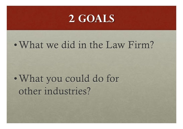 Lean in the lawfirm by stephen reed Slide 2