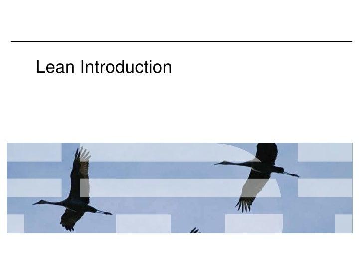 Lean Introduction<br />