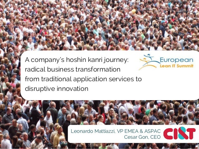 A company's hoshin kanri journey: radical business transformation from traditional application services to disruptive inno...