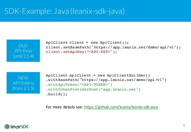 LeanIX New API Tokens