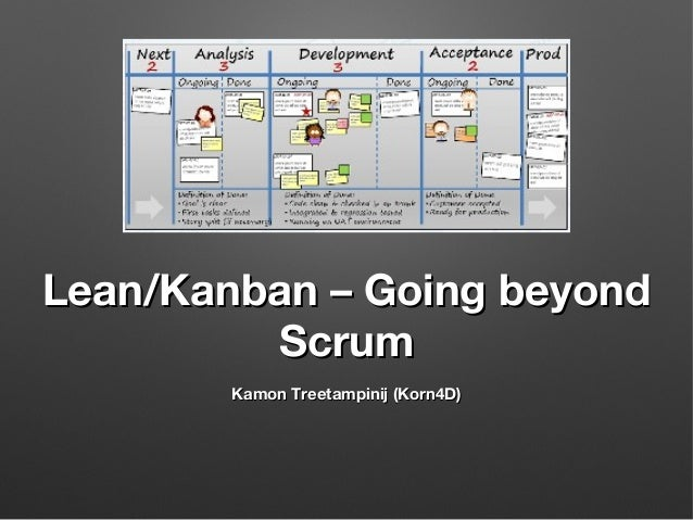 Lean/Kanban – Going beyond Scrum Kamon Treetampinij (Korn4D)