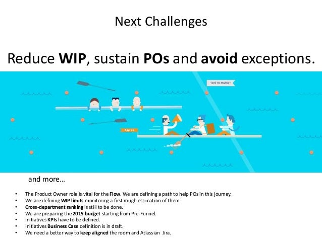 Next Challenges Reduce WIP, sustain POs and avoid exceptions. • The Product Owner role is vital for the Flow. We are defin...