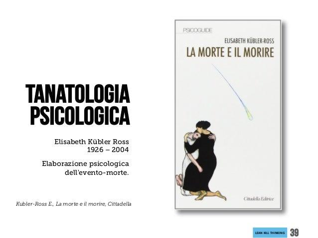 LEANKILLTHINKING 39 Elisabeth Kübler Ross 1926 – 2004 Elaborazione psicologica dell'evento-morte. Tanatologia Psicologic...
