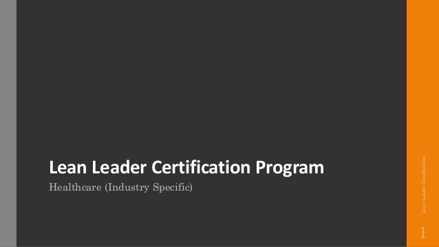 Lean Leader Certification Program | Healthcare