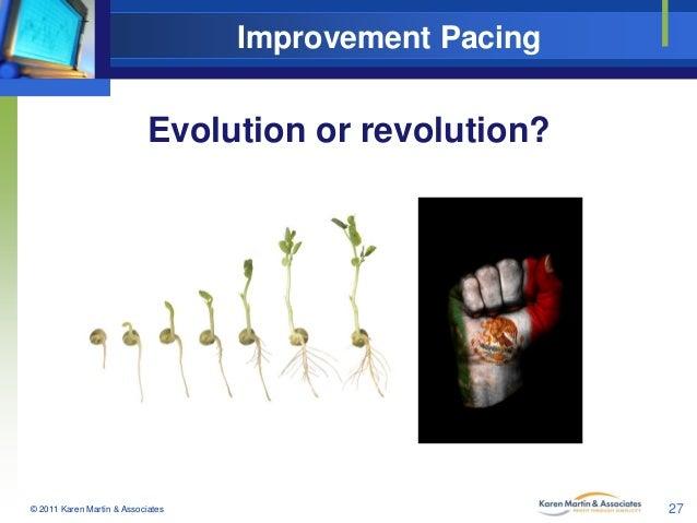 Improvement Pacing  Evolution or revolution?  © 2011 Karen Martin & Associates  27