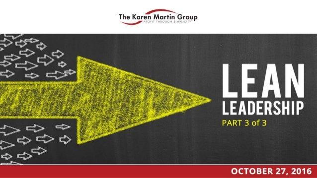 Lean Leadership - Part 3 of 3 Slide 1