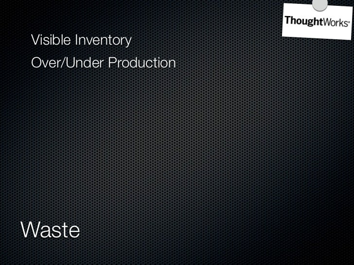 Overproduction  Waiting     7 Wastes of Manufacturing