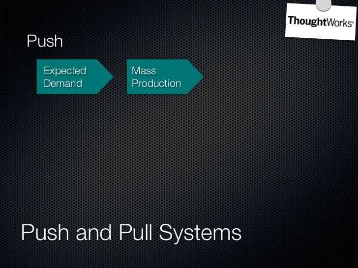 Push   Expected   Mass         Economies   Demand     Production   of Scale     Push and Pull Systems