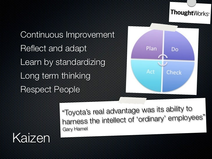 What TPS is          A consistent way of thinking          A total management philosophy          Focus on total customer ...