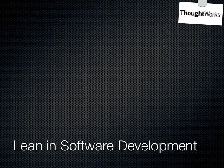 Kanban Board     Lean in Software Development