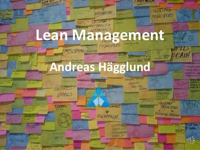 Lean Management Andreas Hägglund
