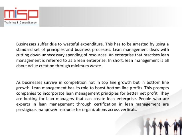 Lean Management Certification - Scope and Prospects