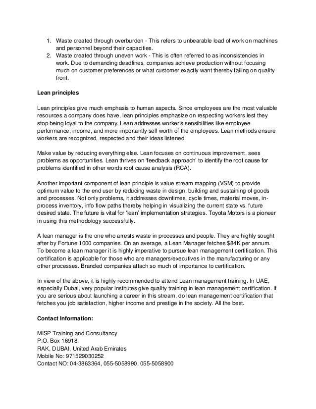 Lean Management Certification Pdf Feb