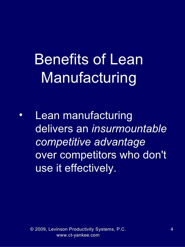 conclusion on lean mfg Conclusions the conclusions are pointed in table 1: the differences between lean theory and lean practice, the employees needs for feedback and direct involvement in the company, stress reduction in lean manufacturing through reporting all misunderstandings, the inside collaboration between employees and managers.