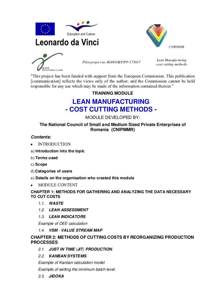 CNIPMMR                                                                     Lean Manufacturing                            ...