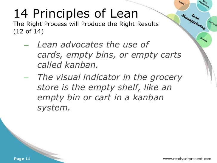 14 Principles of LeanThe Right Process will Produce the Right Results(1 of 23)Principle 5: Build a Culture of Stopping to...