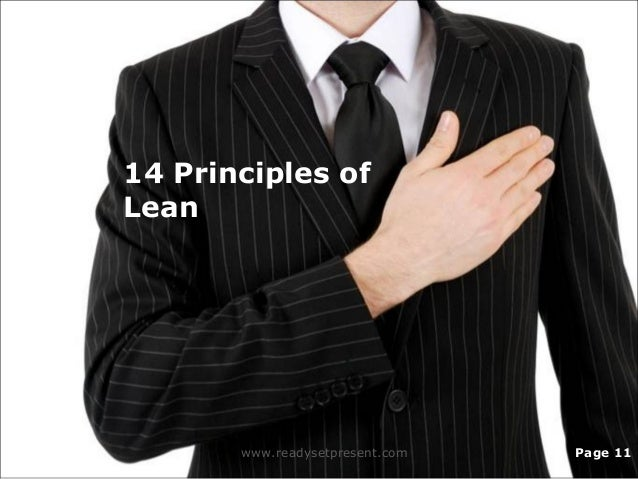 14 Principles of Lean www.readysetpresent.com Page 11