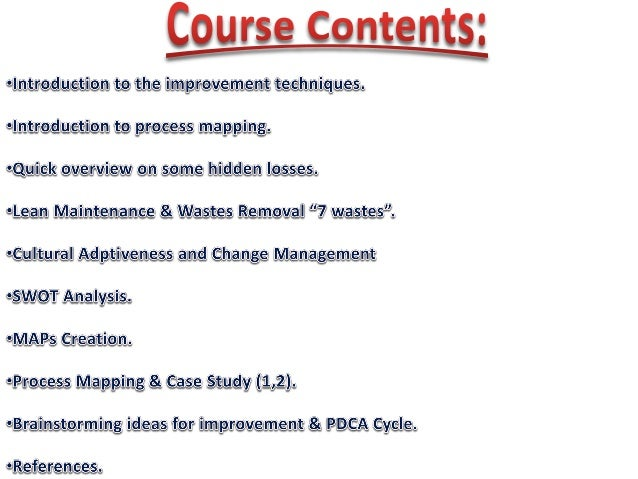 Process Mapping for Improvement and Sustained Results Slide 2