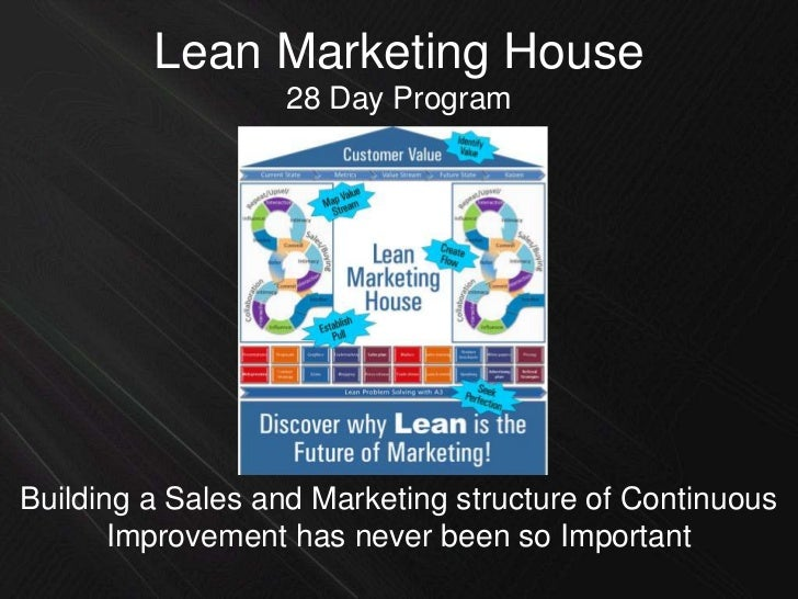 Lean Marketing House<br />28 Day Program<br />Building a Sales and Marketing structure of Continuous Improvement has never...
