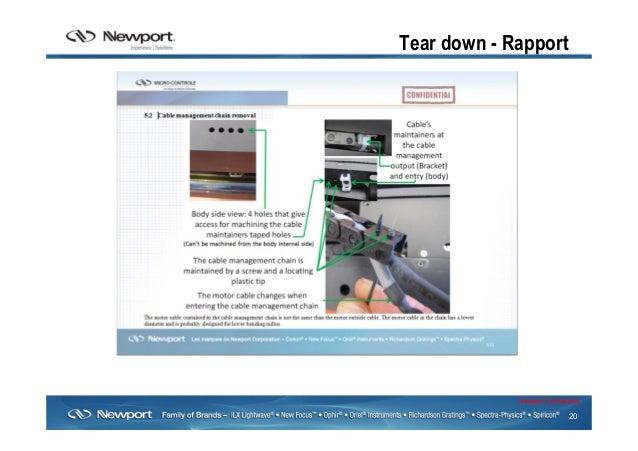 20 Newport Confidential Tear down - Rapport