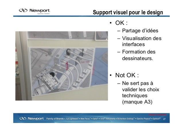27 Newport Confidential Support visuel pour le design • OK : – Partage d'idées – Visualisation des interfaces – Format...