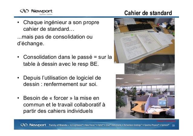 33 Newport Confidential Cahier de standard • Chaque ingénieur a son propre cahier de standard… ...mais pas de consolidati...
