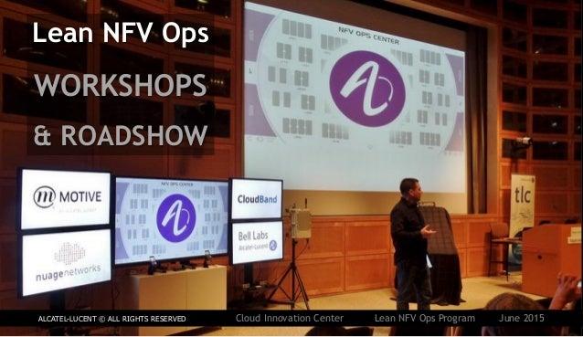 Lean NFV Ops WORKSHOPS & ROADSHOW ALCATEL-LUCENT © ALL RIGHTS RESERVED Cloud Innovation Center Lean NFV Ops Program June 2...