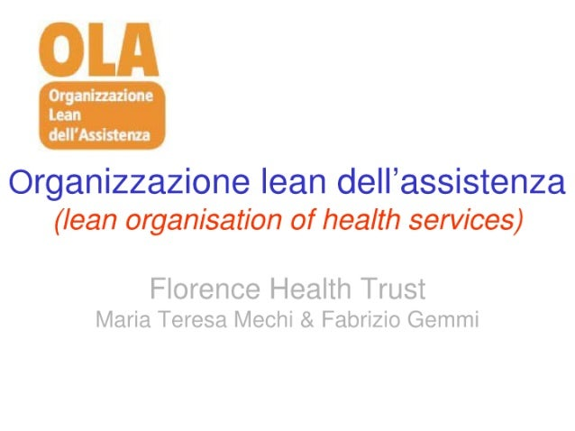 Lean Organisation of Health Services