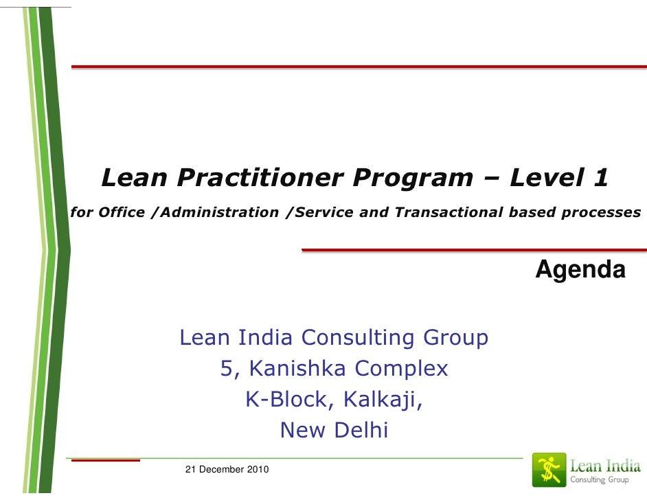 Lean practitioner transactional_pune