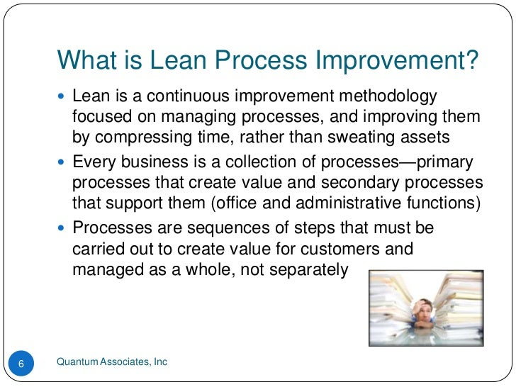 Lean process improvement basics for any business
