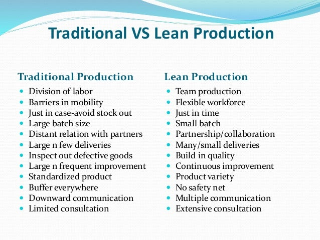 lean production thesis Process cycle efficiency improvement through lean:  a core concept of lean manufacturing is pull production in which the flow.