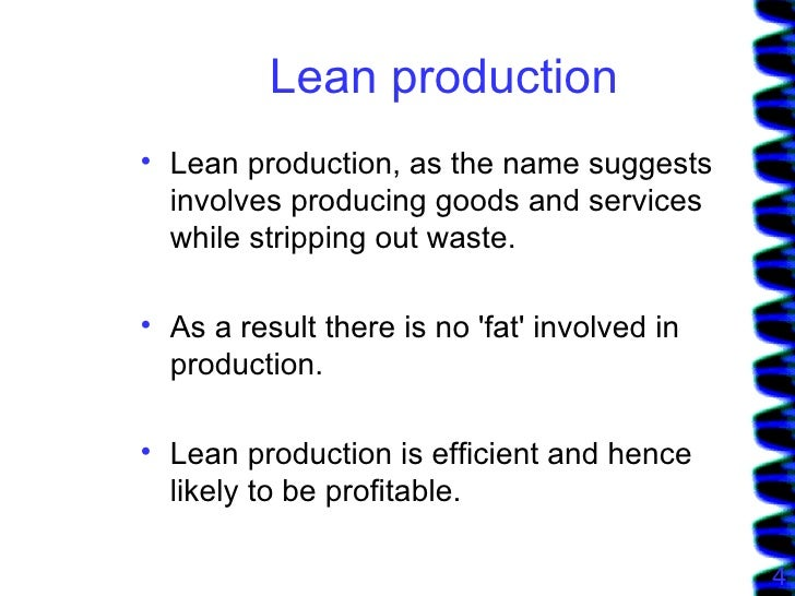Lean Production With Jaguar Example