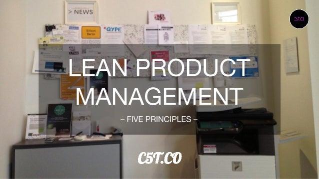 Lean product management  - 5 principles -