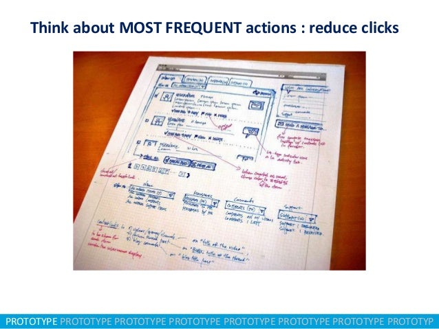 Think about MOST FREQUENT actions : reduce clicks  PROTOTYPE PROTOTYPE PROTOTYPE PROTOTYPE PROTOTYPE PROTOTYPE PROTOTYPE P...