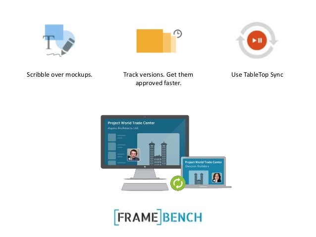 Scribble over mockups.  Track versions. Get them approved faster.  Use TableTop Sync